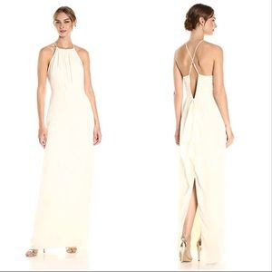 NWT Halston Heritage ivory evening gown sz 4